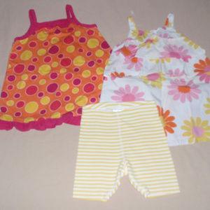 Hanna Andersson Girls Dress Shorts Lot 80 18m